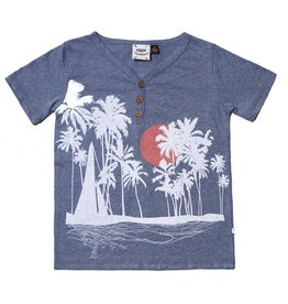 Fore!! Axel & Hudson S/S Sailboat, Sunset, Palm Screen Print T-shirt