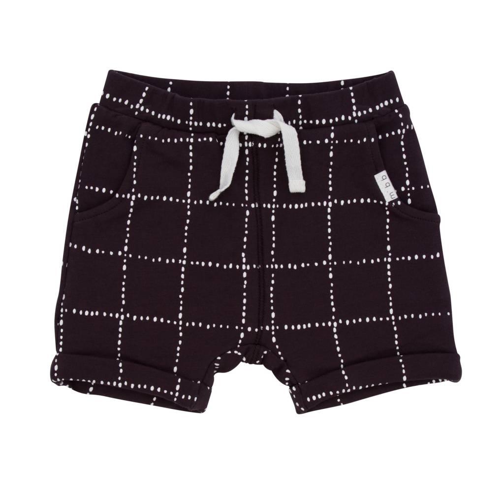 Miles Baby Dark Grey Windowpane Baby Shorts