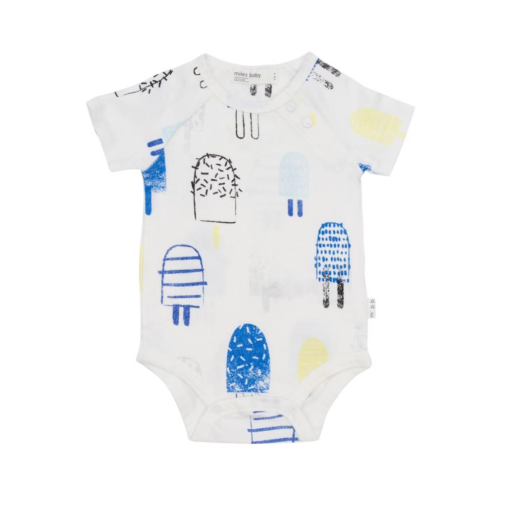 Miles Baby Blue Popsicle 3pc Set: 2 Onesies & Knit Short