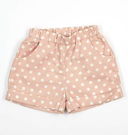 Doe A Dear Polka Dot Shorts w/Pockets Pink