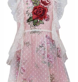 Truly Me Pink Floral Lining Dress
