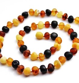 Momma Goose Products Ltd Amber Necklace B. Unp. Multi