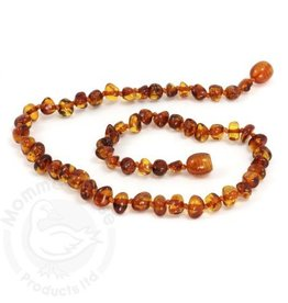 Momma Goose Products Ltd Amber Necklace Bar. Cognac
