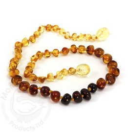 Momma Goose Products Ltd Amber Necklace Bar. Rainbow