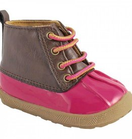 Trimfoot Co. Fuchsia/Brown Duck Boot