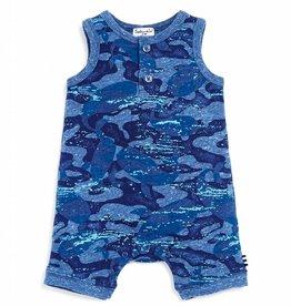 Splendid Onesie Whale Camo Dark Blue Heather
