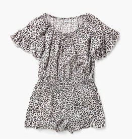 Splendid Leopard Print Optic White Romper