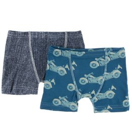 Kickee Pants Boy Boxers Denim Motorcycle