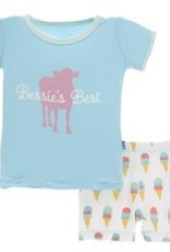 Kickee Pants S/S PJ Short Set Nat. Ice Cream