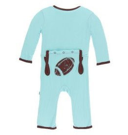 Kickee Pants App. Zip Coverall Shining Sea Football