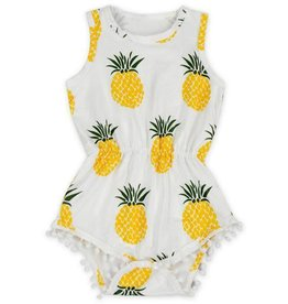 Mila & Rose Pineapple Pom Pom Romper
