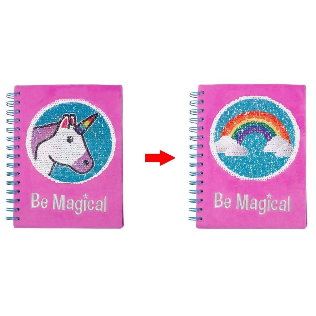 Three Cheers for Girls! Unicorn Magic Sequin Journal