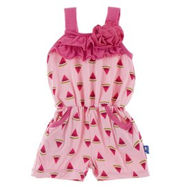 Kickee Pants Flower Romper Lotus Watermelon