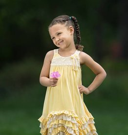 Isobella & Chloe Yellow Dandelion Darling Dress