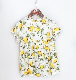 MaeLi Rose Lemon Print Top