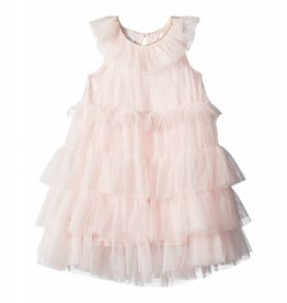 Mud Pie Pale Pink Mesh Tiered Dress