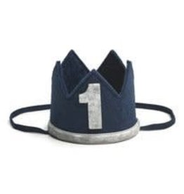 Sweet Wink Navy/Gray #1 Boy Crown