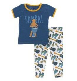 Kickee Pants S/S PJ Pant Set Samba