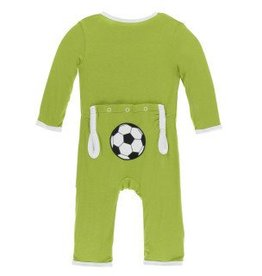 Kickee Pants App. Snap Coverall Meadow Soccer