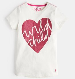Joules Pixie Cream Wild Child Graphic T-Shirt