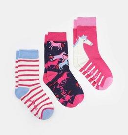 Joules Bamboo 3pk Horse Socks