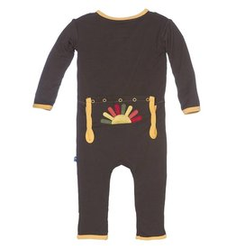 Kickee Pants Bark Turkey Coverall