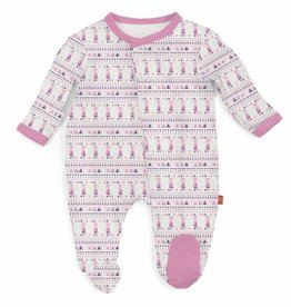 Magnificent Baby Pink Foxy Fair Isle Modal Footie