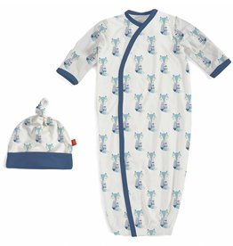 Magnificent Baby Blue Cool As Fox Modal Sack Set, 0/3M