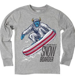 Wes And Willy Abominable Snowboarder Tee Heather