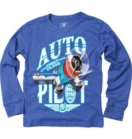 Wes And Willy Auto Pilot LS Tee Blue Moon Blend,