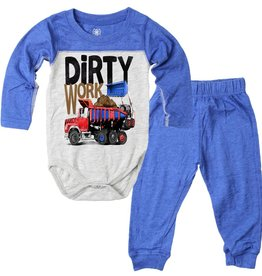 Wes And Willy Dirty Work Infant Set Blue Moon