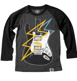 Wes And Willy Electric Guitar LS Raglan Black