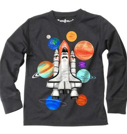 Wes And Willy Spaceship LS Tee Metal