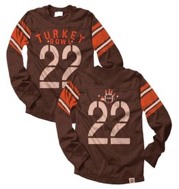 Wes And Willy Turkey Bowl LS Jersey Chocolate Blend