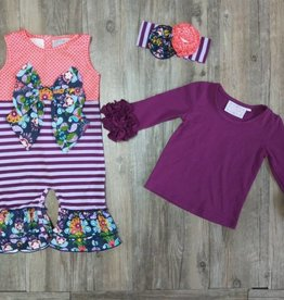 Serendipity Jeweled Forest Bow Longall w/ Plum Top