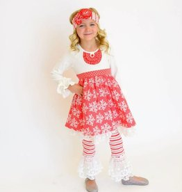 Serendipity Winter Wonderland Bib Dress w/ Legging