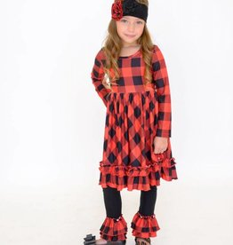 Serendipity Lumberjane Ruffle Swing Dress w/ Legging
