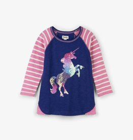 Hatley Playful Unicorn Raglan Tee Dark Skye
