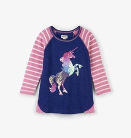 Hatley Playful Unicorn Raglan Tee Dark Skye