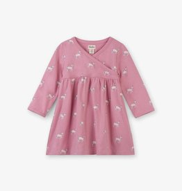 Hatley Graphic Unicorns Baby Cross Over Dress Desert Rose