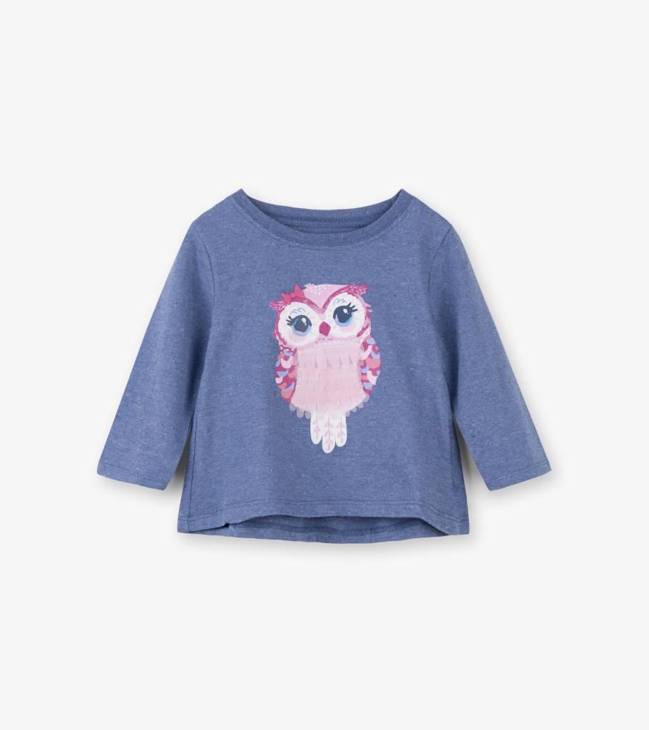 Hatley Adorable Owl LS Baby Tee Muscari