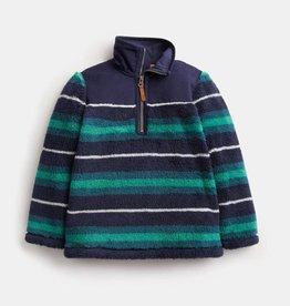 Joules Woozle Half Zip Fleece Herb Green Stripe