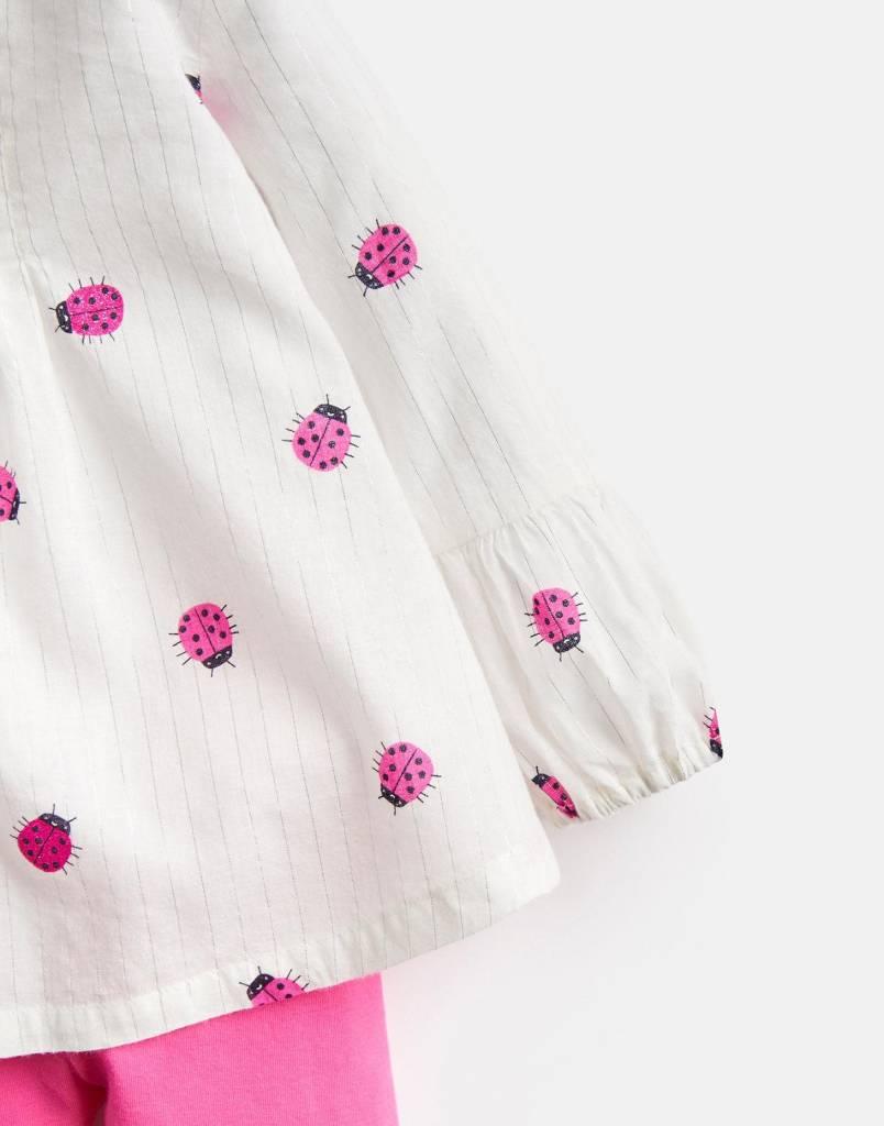 Joules Effie Top & Legging Set Cream Ladybird/Ladybug