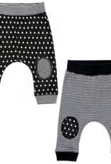 Kapital K 2pk Baby Pants Black/Gray Multi