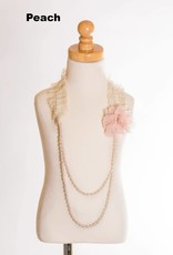 M. L. Kids Pink Rosette & Lace Beaded Necklace