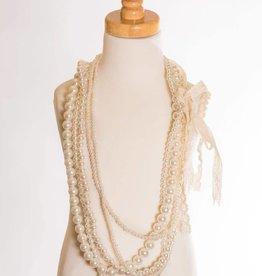 M. L. Kids Multi-Strand Pearl Necklace