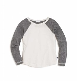 Splendid Off-White/ Dark Grey Pullover Tee