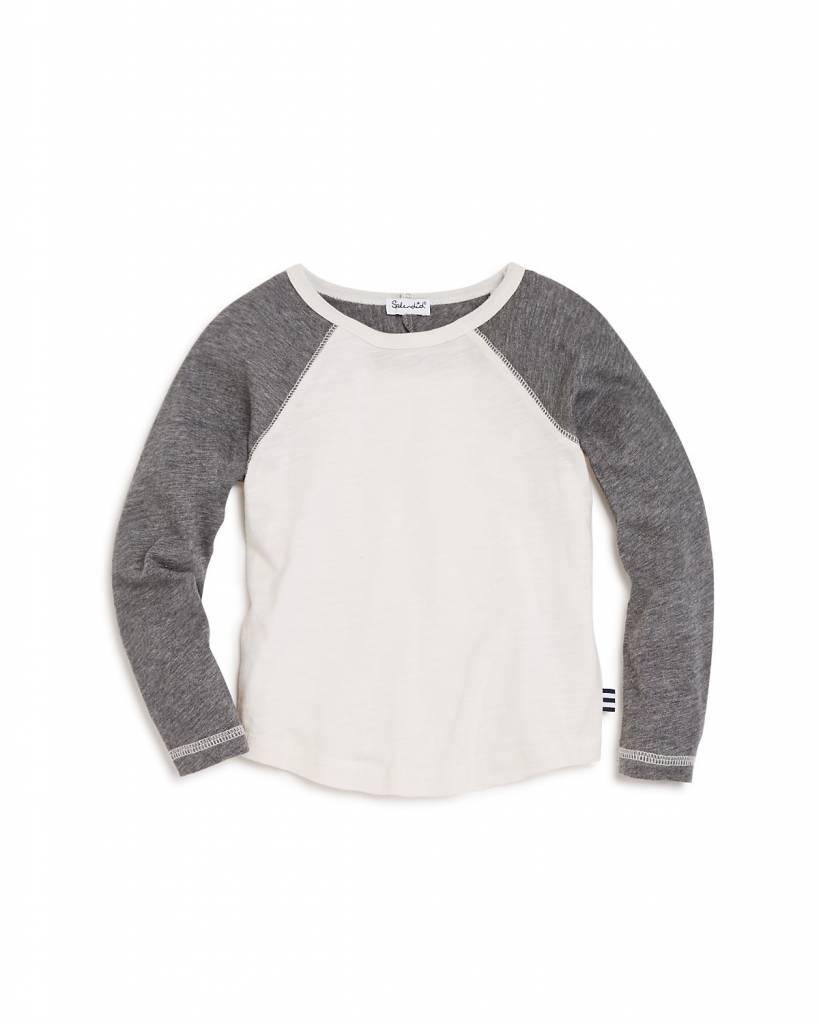 Splendid Off-White/ Dark Grey Pullover Tee