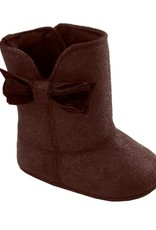 Trimfoot Co. Chocolate Brown Suede Boot w/ Bow