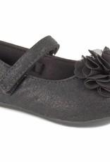Trimfoot Co. Black Shimmer Skimmer Shoe w/ Chiffon Flower